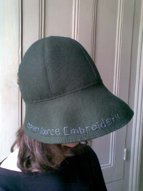 open source embroidery hat