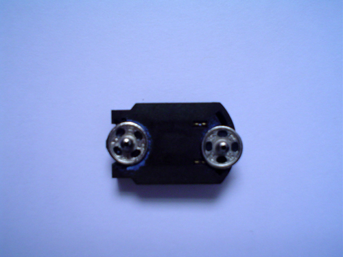 metal snaps on surface mount battery holder