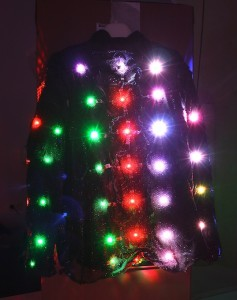 The LumiNet jacket features a distributed network of nodes
